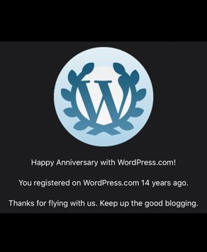 Wow, I've been on wordpress for 14 years already!