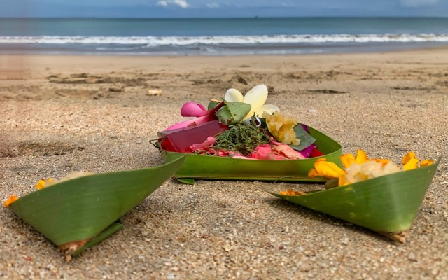 There are many beautiful offerings on the beach