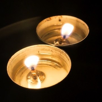 It's always good to have some candles or tea-lights at hand...