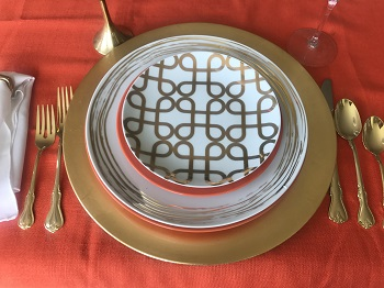 Tabletop Tuesday: Tangerine + Gold