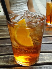 A nice glass of Aperol Spritz in Milan