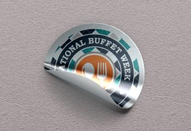 National buffet day sticker