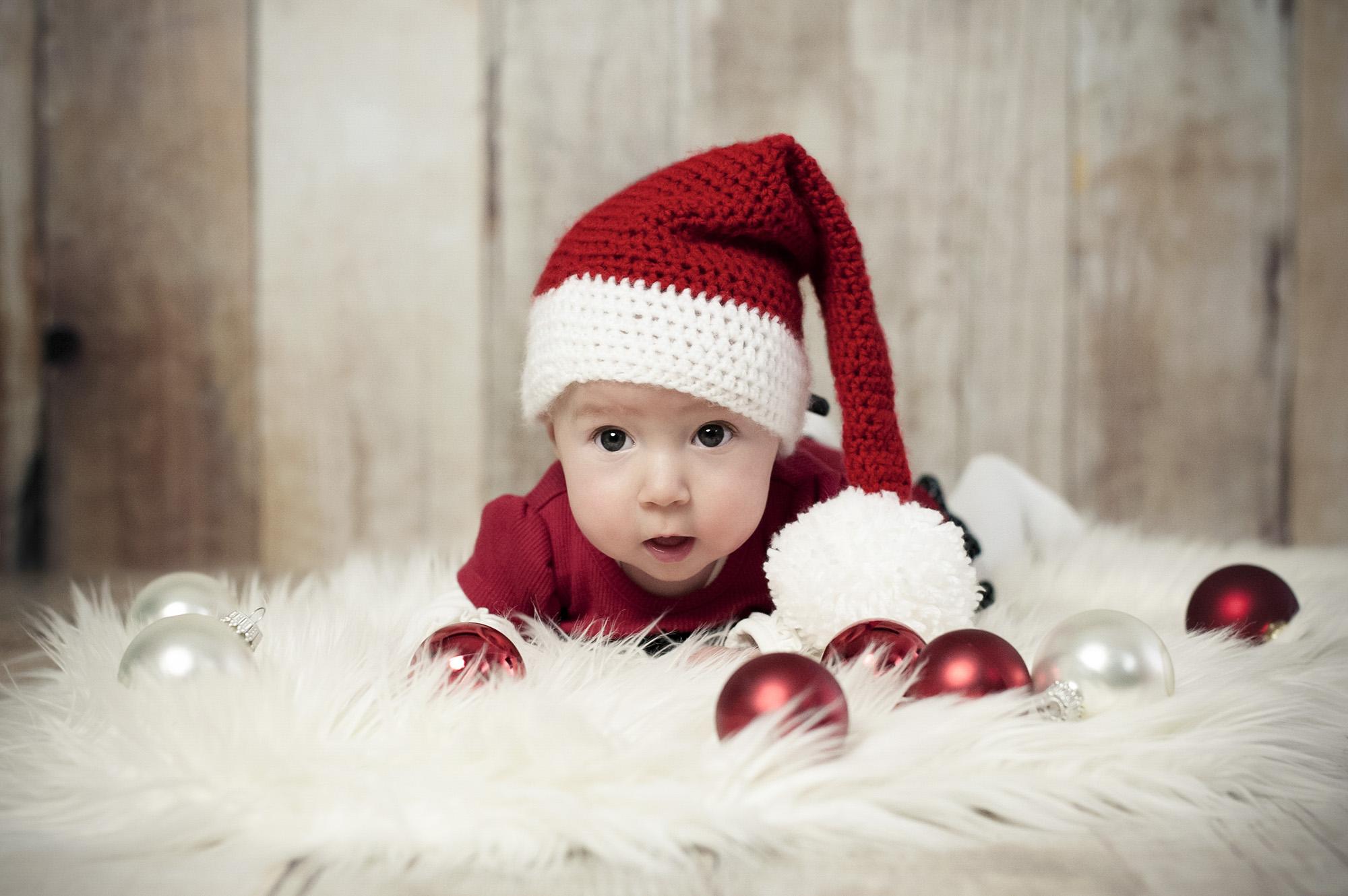 Baby Fotoshooting Weihnachten