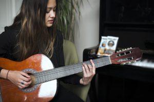 Louise schwidder guitar music piano plant