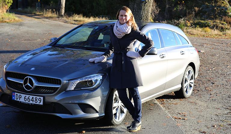 Merceres-Benz - Shooting Brake og Yvonne Hansen