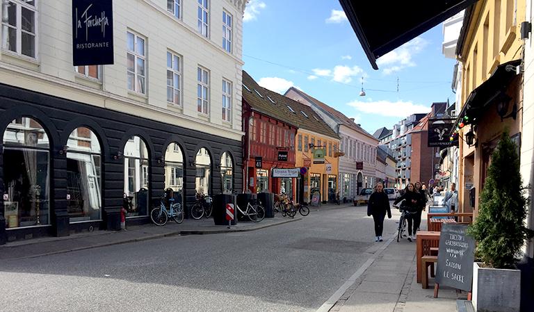 Vestergade i Århus, Danmark.