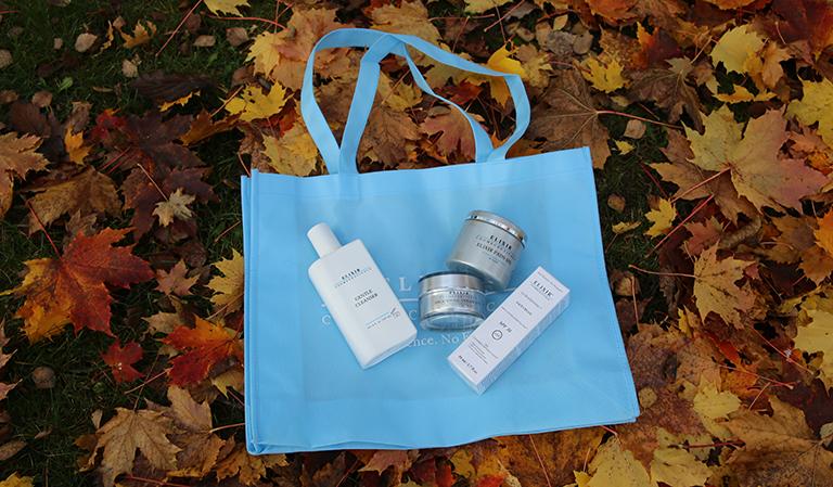 Elixir-produkter på shoppingpose