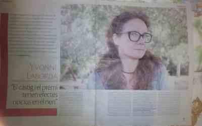 Entrevista a Yvonne Laborda en la prensa local de Lleida