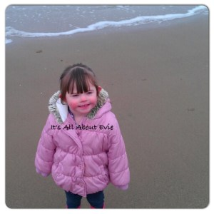 Evie on the beach
