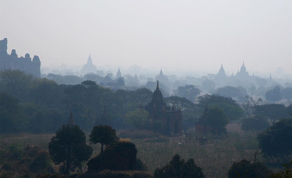 de tempels van Myanmar