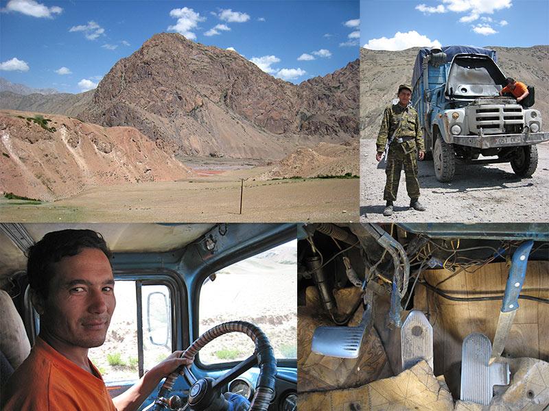 Irkeshtam Pas tussen China en Kyrgyzstan
