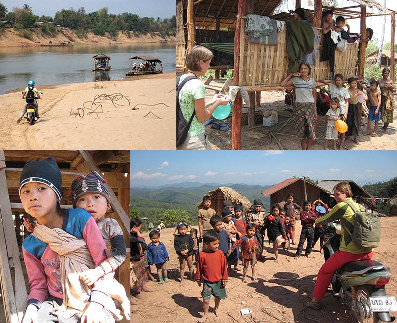Motorrijden Laos
