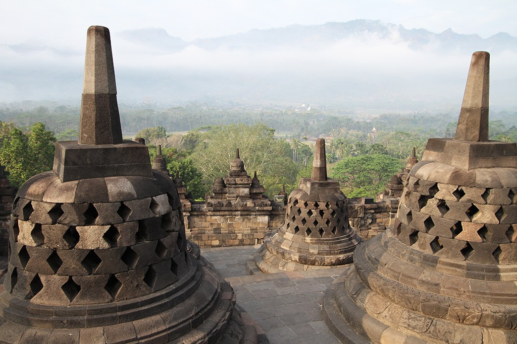 Borobudur na zonsopkomst