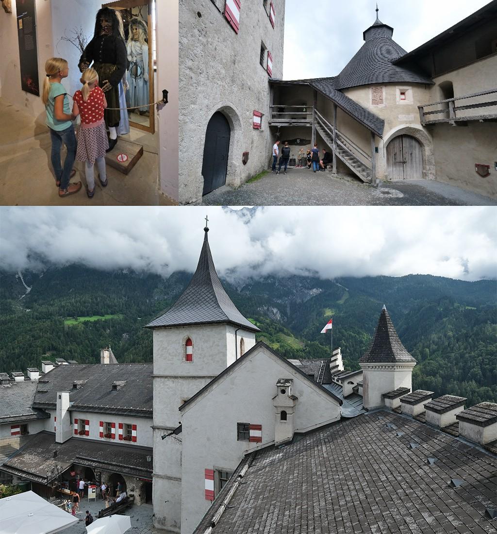 Burg Hohenwerfen regenachtig weer