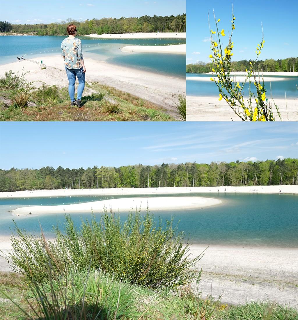 Gasselterveld blauwe meer van boven