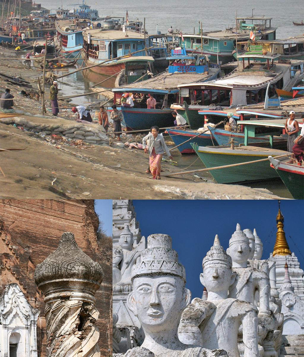 route Myanmar - Mandalay Mingun