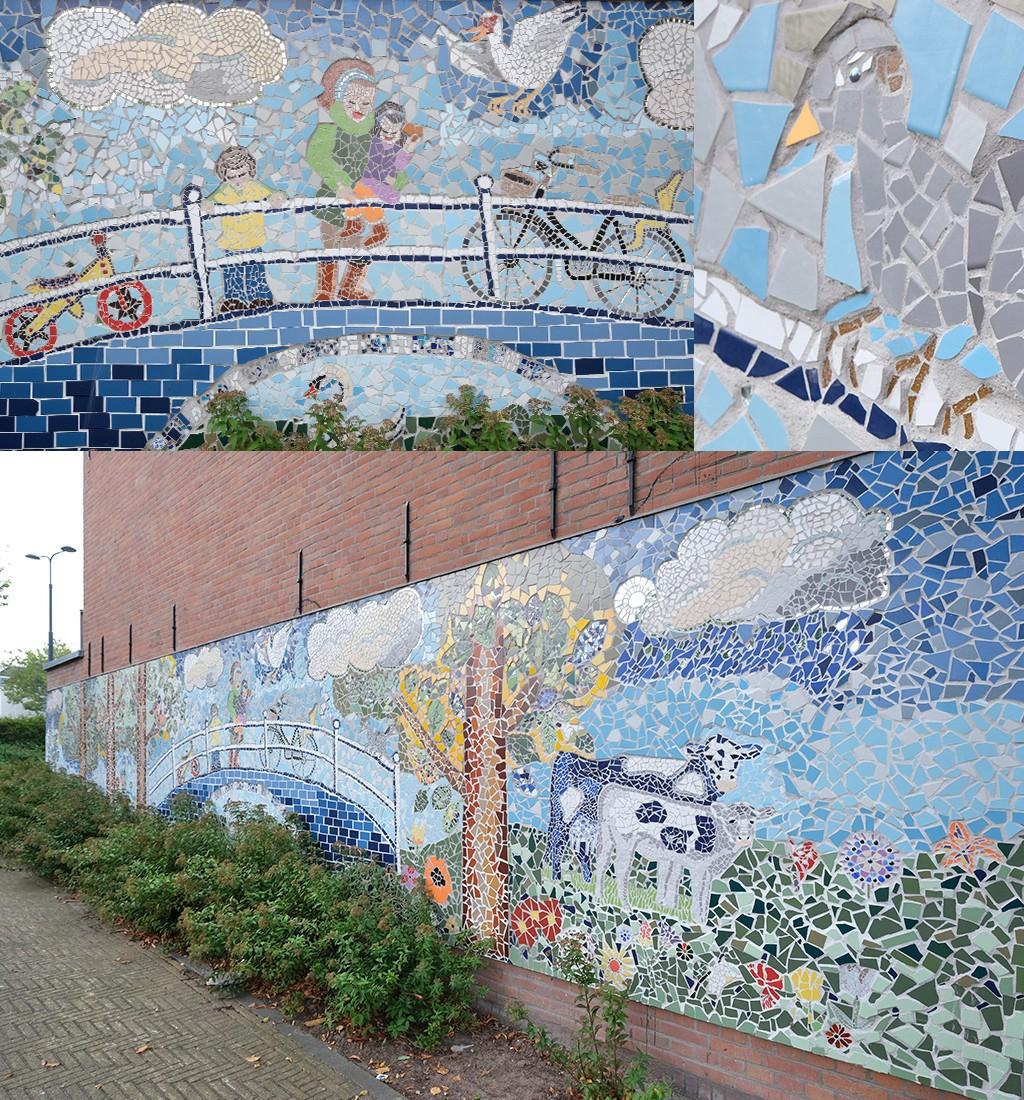 Mozaiek Ham Delft