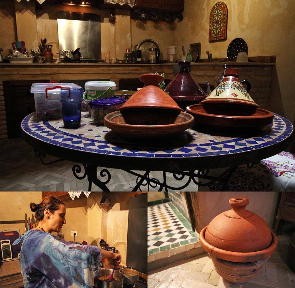 eten bij een local in Fez - de keuken