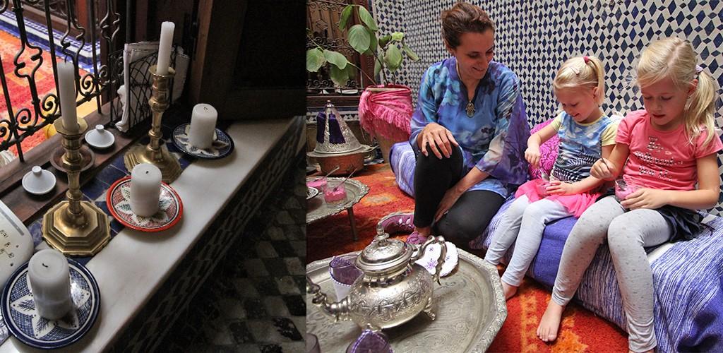 eten bij een local in Fez - toetje