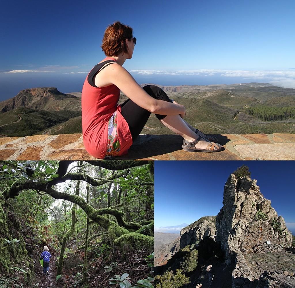 gebaande paden verlaten op La Gomera
