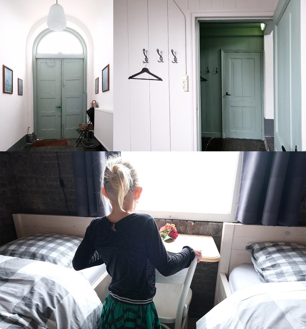 hal en slaapkamer in de klokkentoren