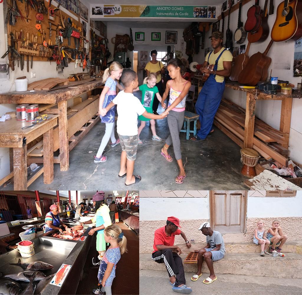 het lokale leven van Kaapverdië met kinderen