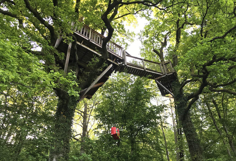 Le Chene Perche boomhut 13 meter hoog