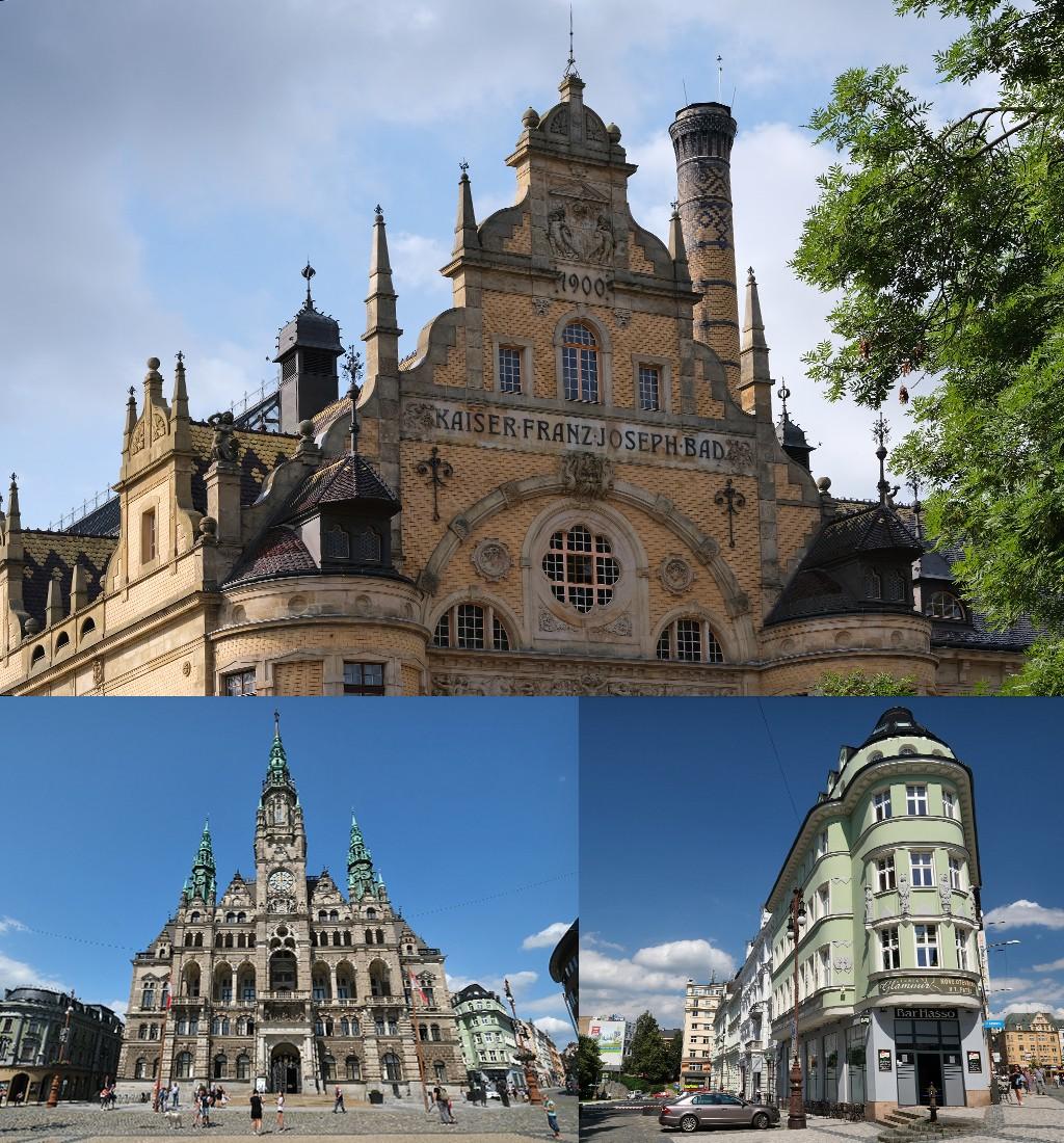 mooie gebouwen in Liberec