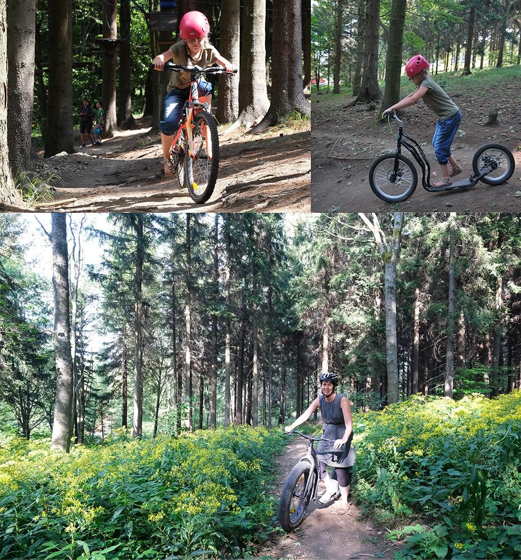 mountainbiken en steppen Klíny
