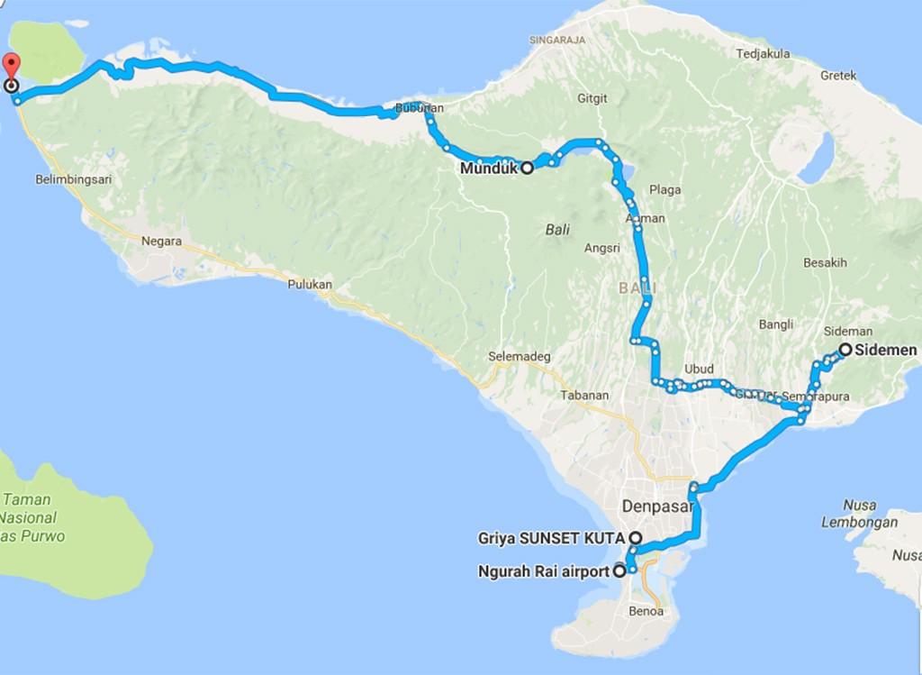 niet toeristische route Bali