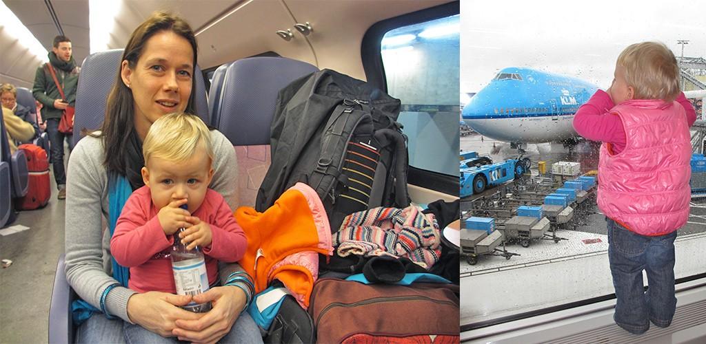 onderweg naar India met baby