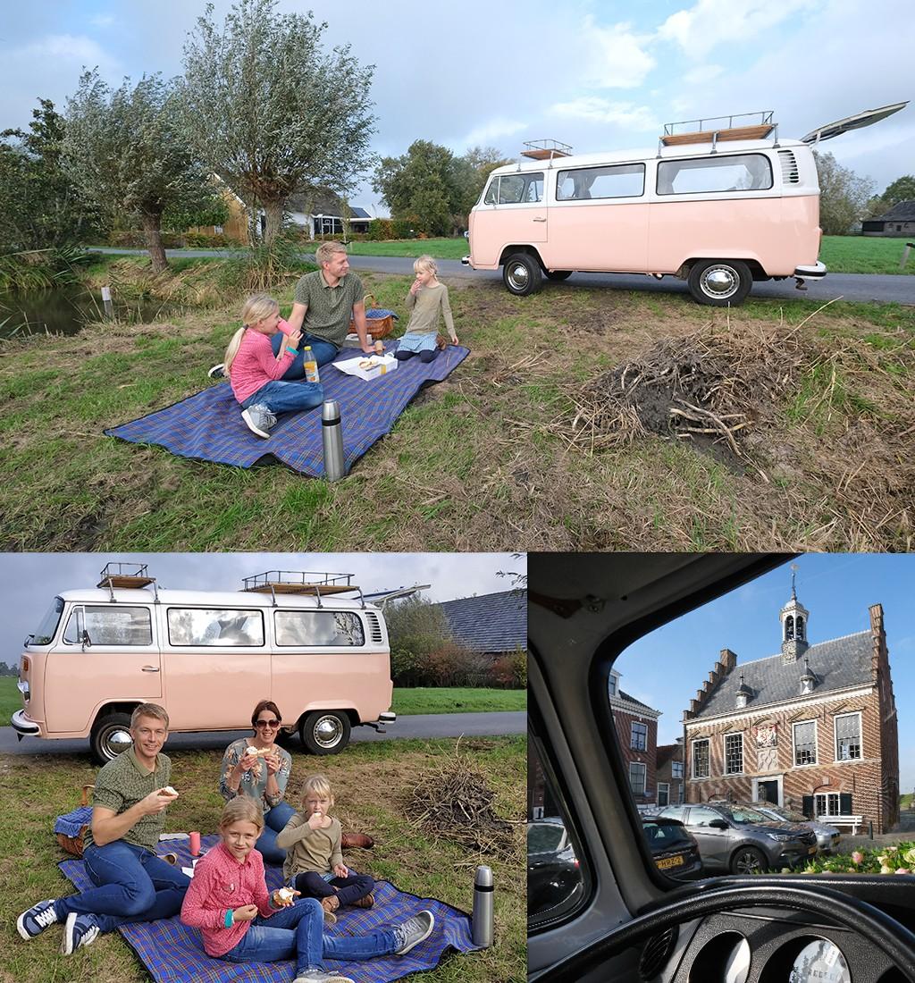 taart onderweg bij de VW old timer bus