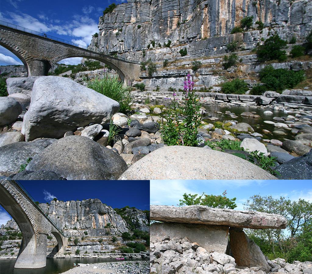 wandelingen Ardeche en dolmen St. Alban Auriolles