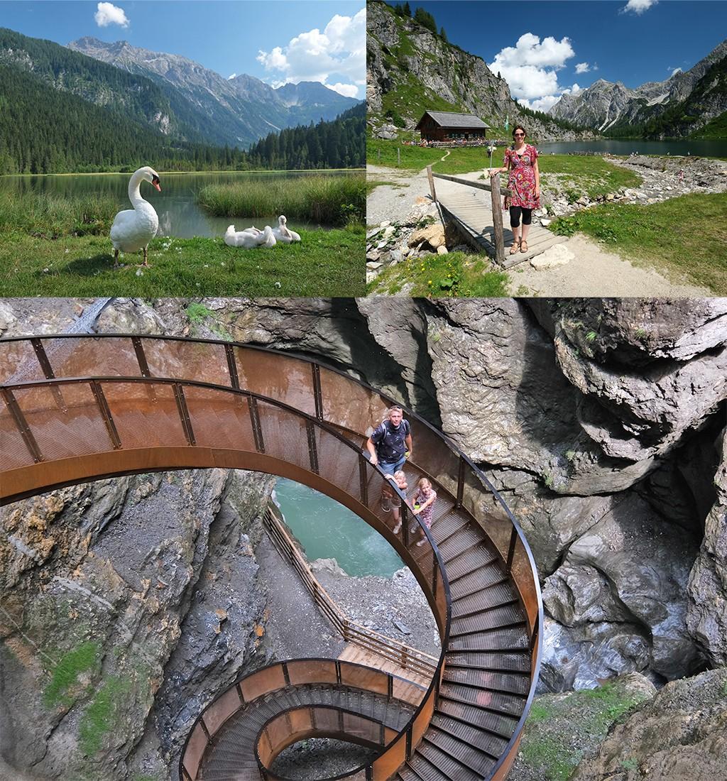 zomervakantie in Oostenrijk bergen meren kloven