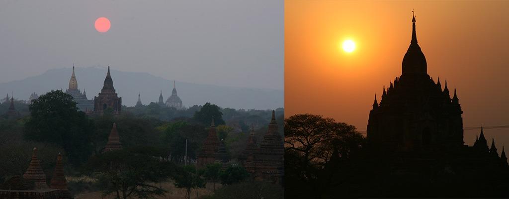 Zonsondergang-Bagan