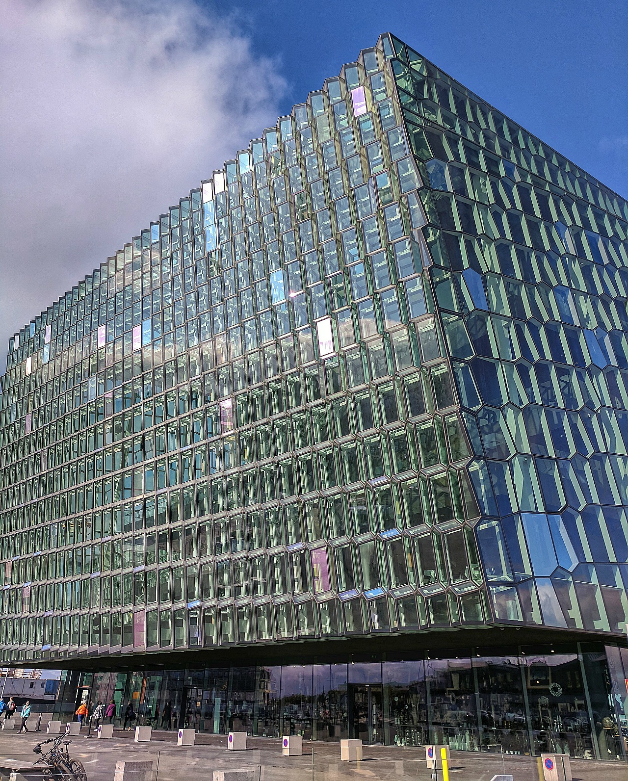 10 top reasons to visit Iceland. Modern Harpa Concert Center in Reykjavik.