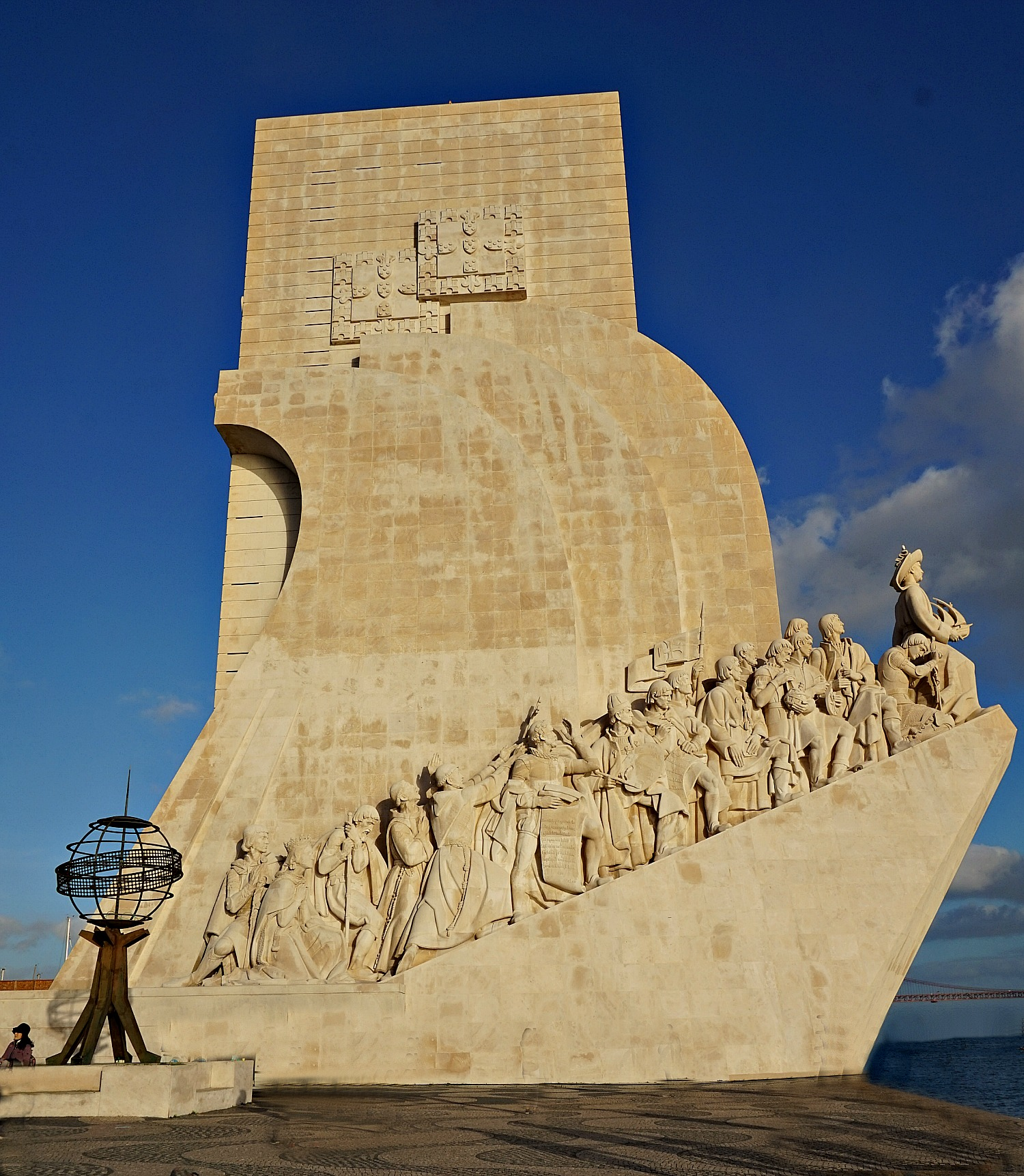 Portugal - one week itinerary. Monument of Discoveries pays tribute to Portuguese explorers.