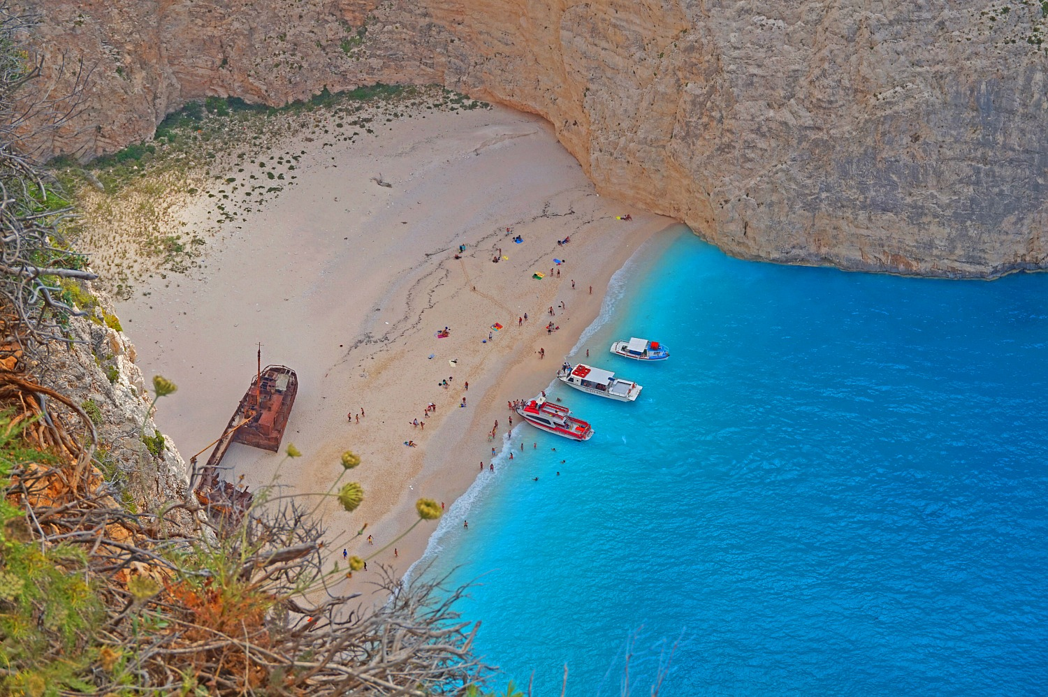 Zakynthos Greece - how to visit. Navagio Beach and its shipwreck.