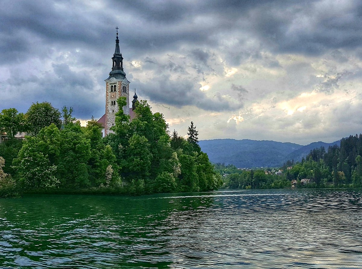 Pilgrimage Church of the Assumption of Maria on the Lake Bled island.