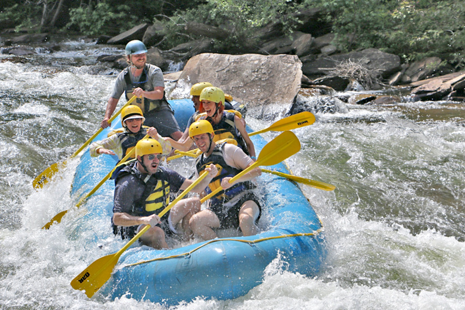 Benefits of traveling. Playtime - Chattanooga white water rafting.