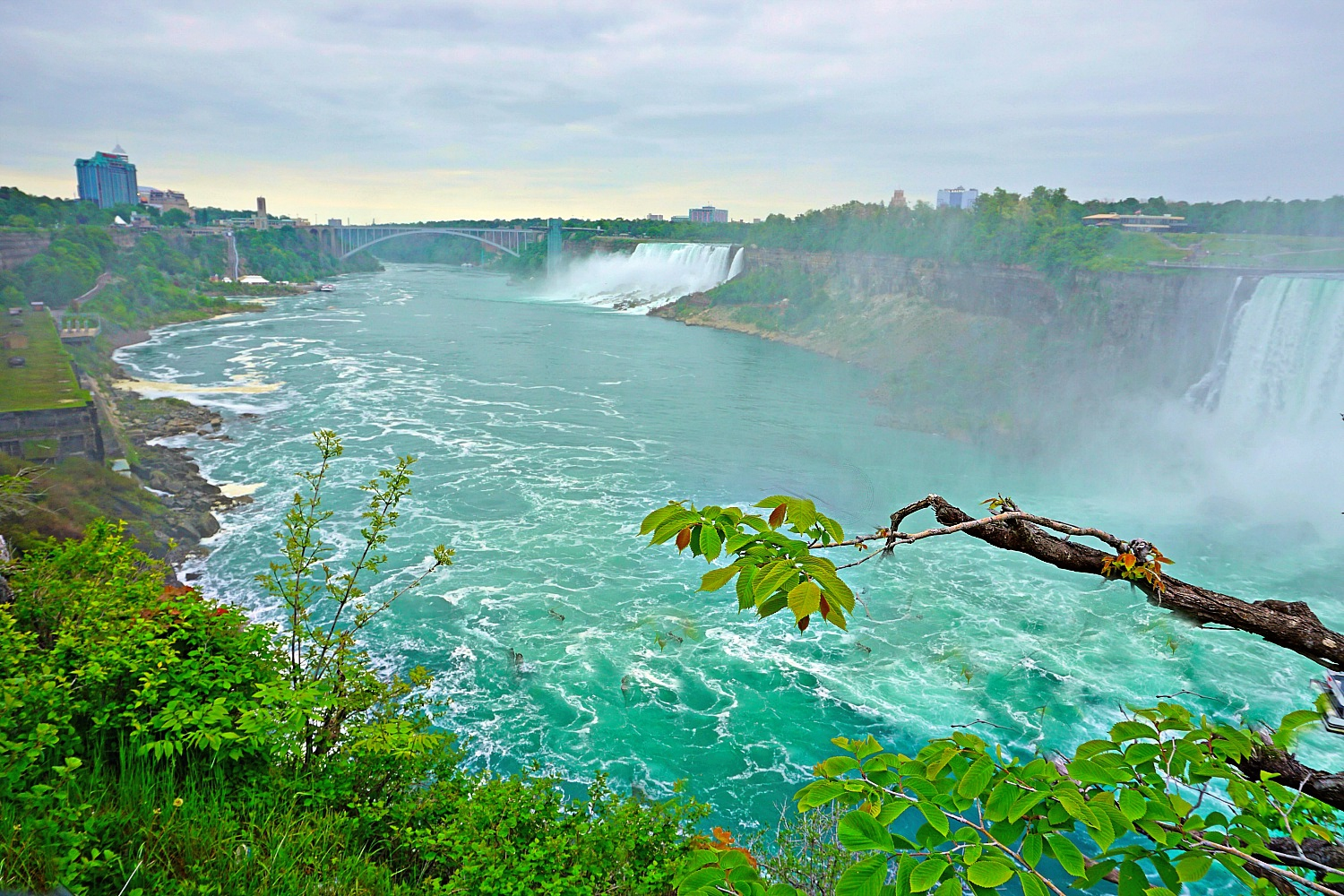 Niagara Falls Canada, overlook at the American falls.