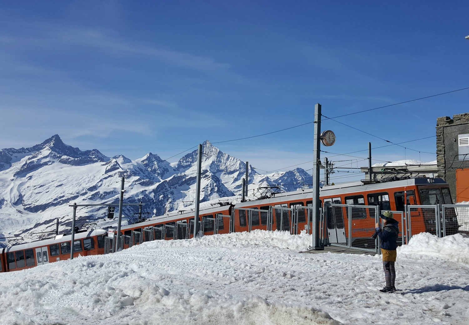 Zermatt Switzerland - Europe's highest cogwheel railway Gornergratbahn.