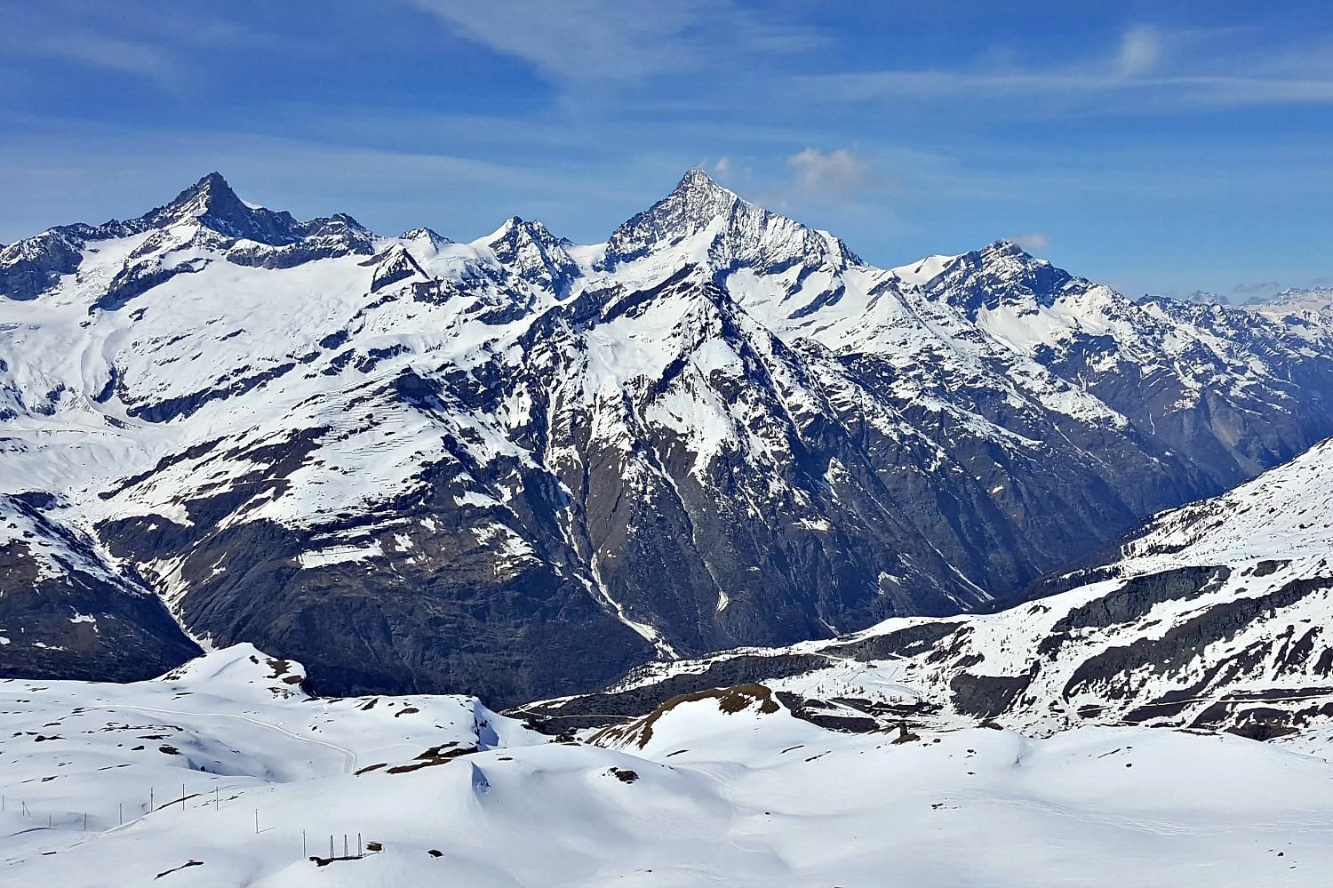 Zermatt Switzerland - view of the mountain range.