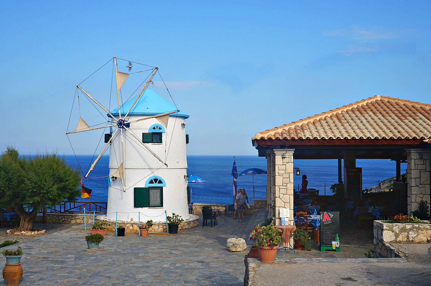 Zakynthos Greece - how to visit. Windmill accommodation by Potamitis Brothers.