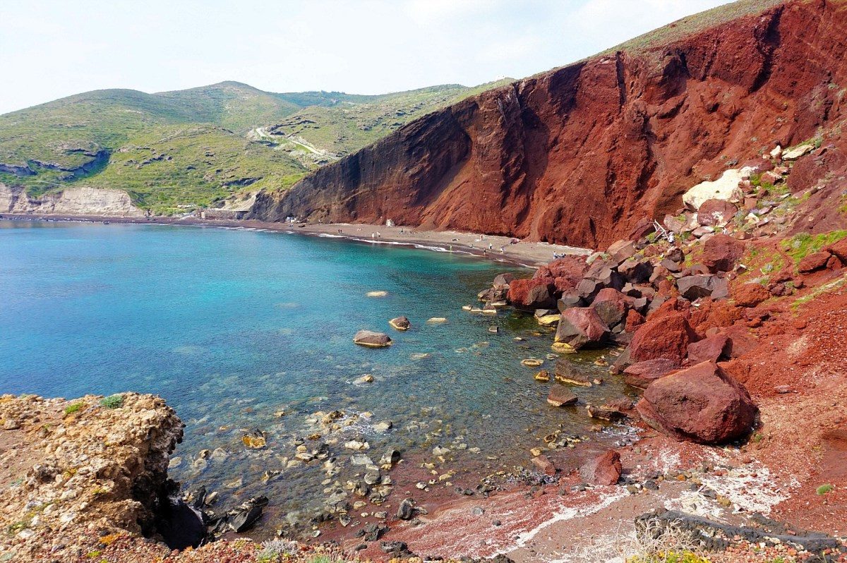 Red Beach Santorini Greece.