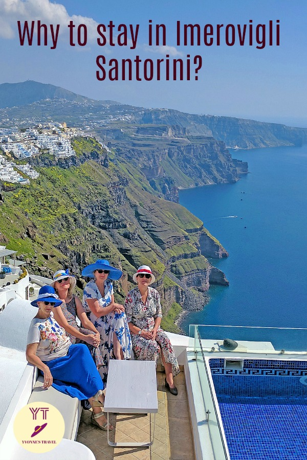 Can't decide where to stay in Santorini? Is Imerogvli better than Oia or Thira? Learn about Santorini hotels and why to stay in Imerovigli. #santorinihotels #imeroviglisantorini