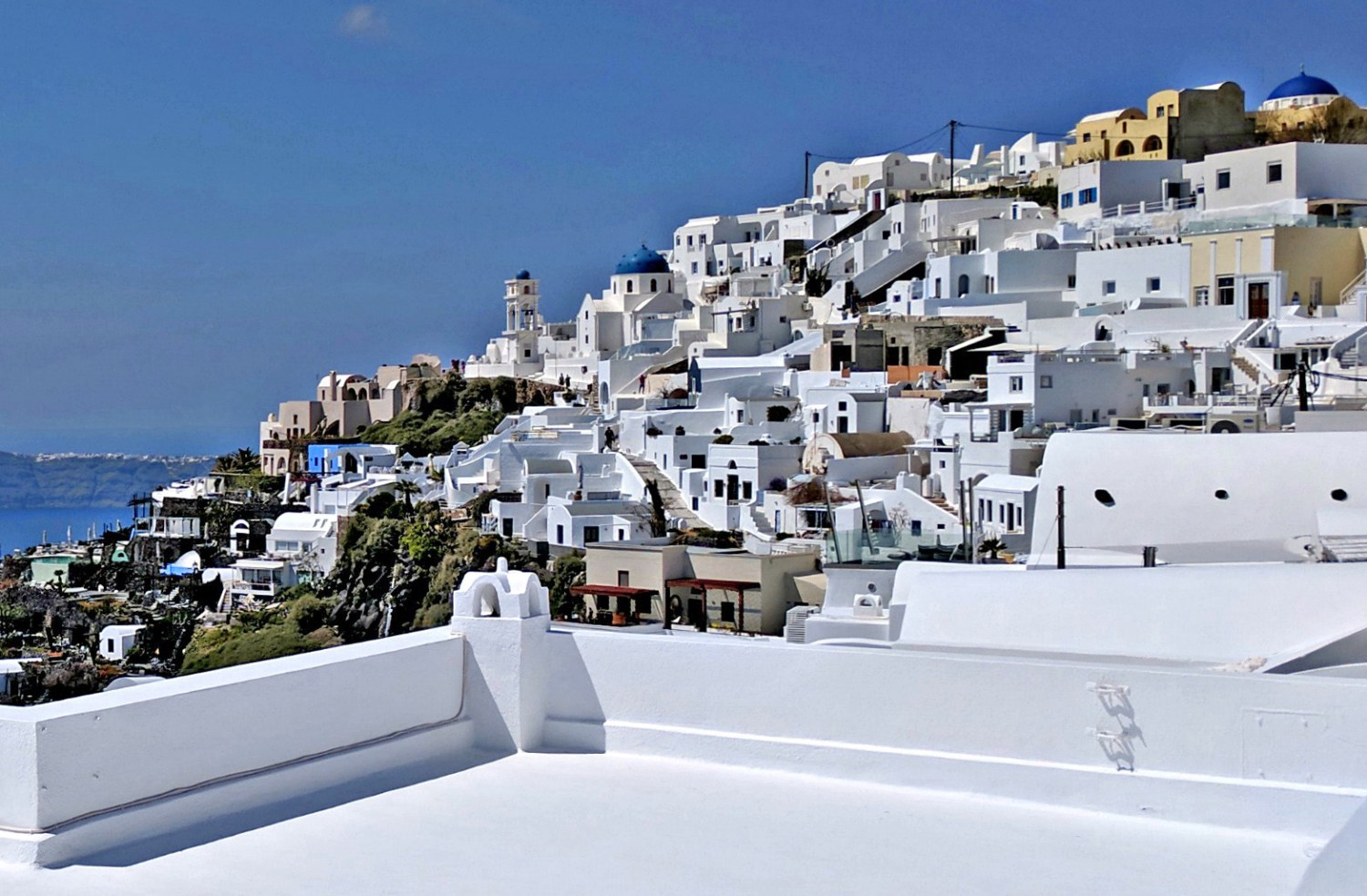 Imerovigli, not as famous as Oia, stand on its own as a stunning destination - the view.