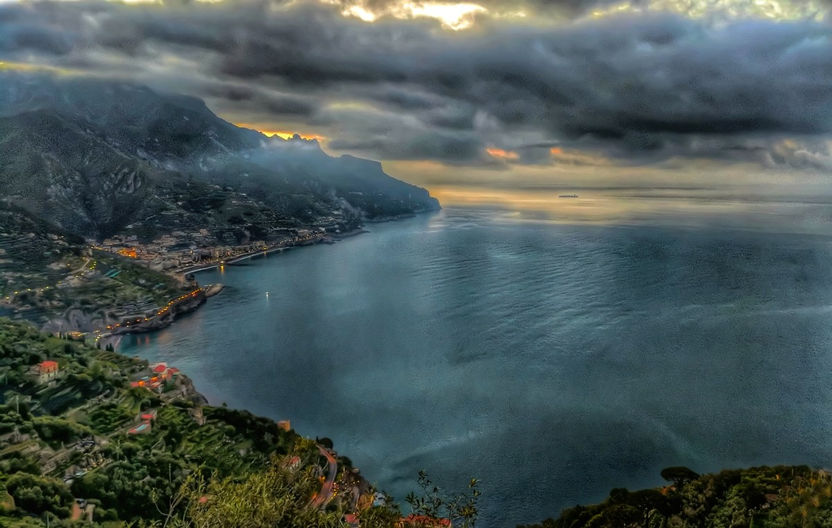 Another glorious sunrise in Ravello Italy.