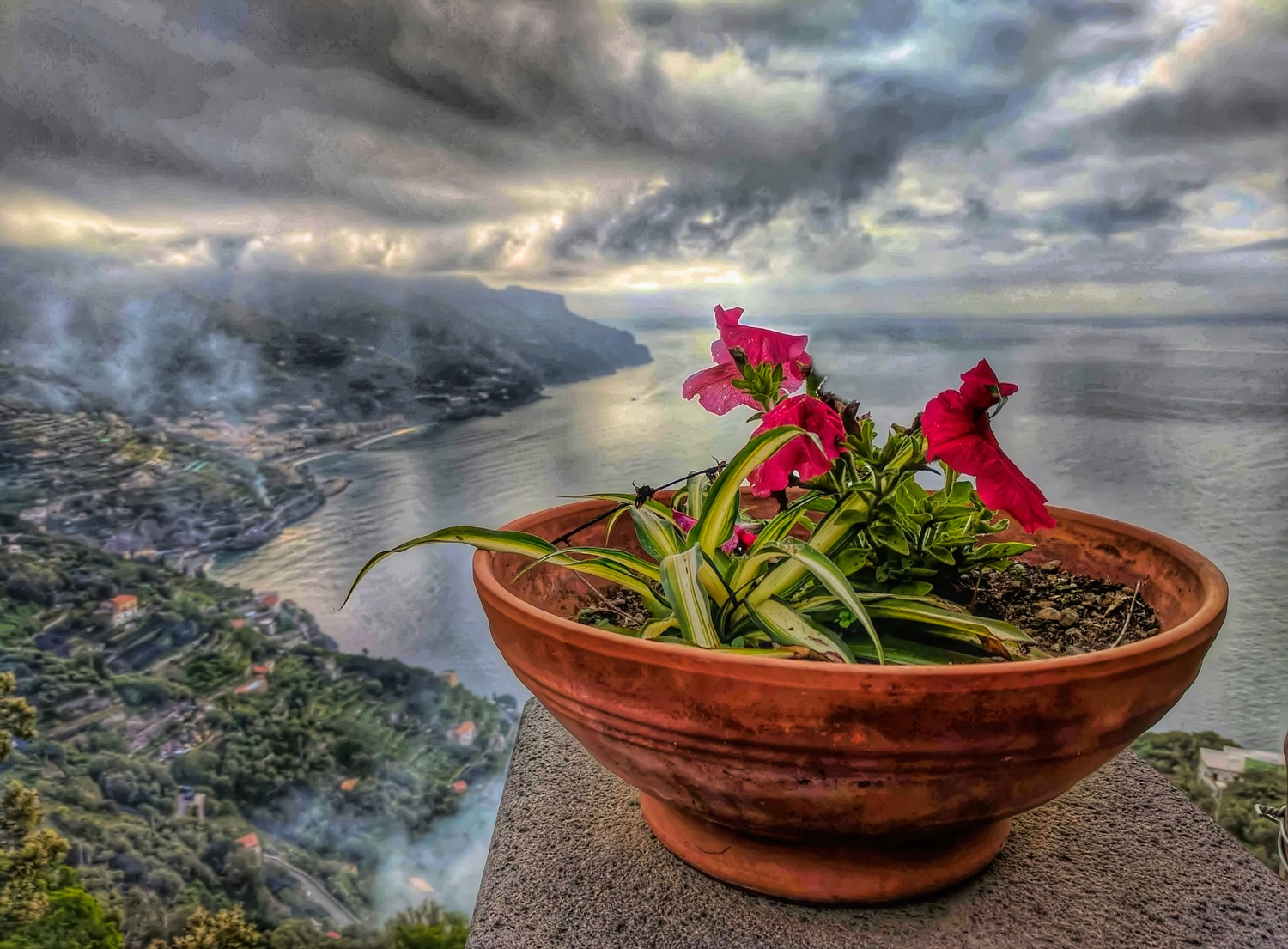 Morning glory of the Amalfi Coast as seen from Giuliana's View hotel in Ravello.