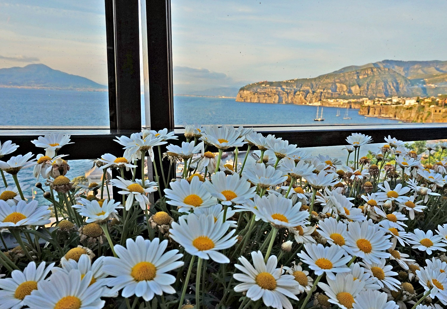 Gorgeous view from Sorrento restaurants.